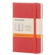 Moleskine Classic Notebook, Pocket, Ruled, Coral Orange, Hard Cover [3571]